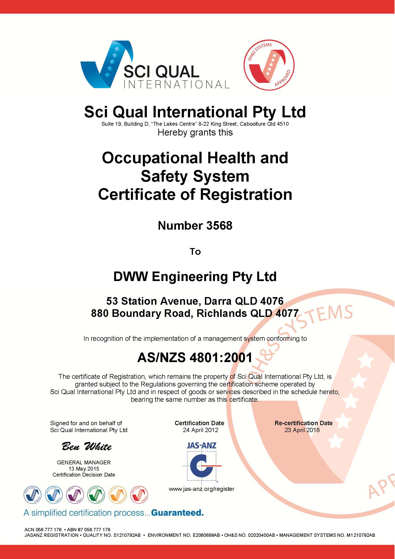 how to get ohs certificate